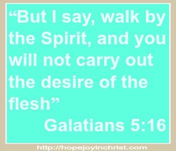 Galatians 5:16 Walk in the Spirty