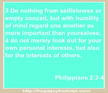 Philippians 2 3 4 Do nothing from selfishness