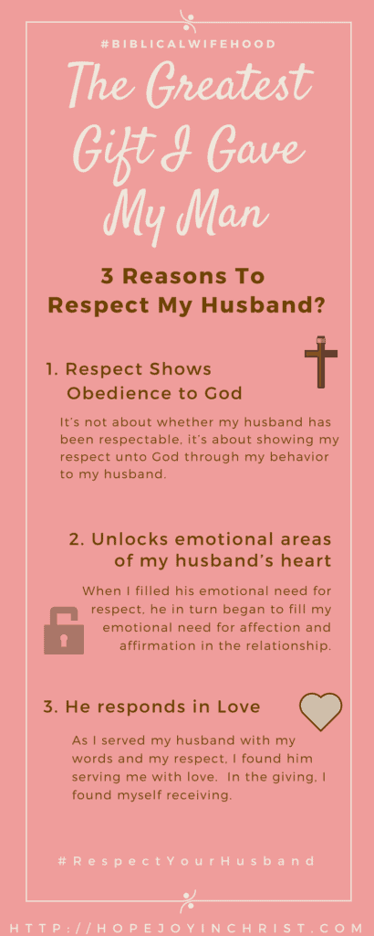 3 Reasons to Respect Your Husband Biblical Wifehood, Christian Marriage Advice (Reclaiming Hope & Joy in your Marriage)