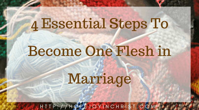 4 Essential Steps To Become One Flesh in Marriage FB (Christian Marriage, Biblical Wifehood, (Reclaiming Hope & Joy in your marriage))