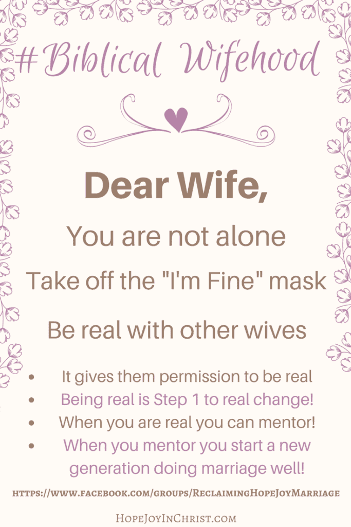 Dear Wife You are not alone (Christian Marriage Resources, Biblical Wifehood)
