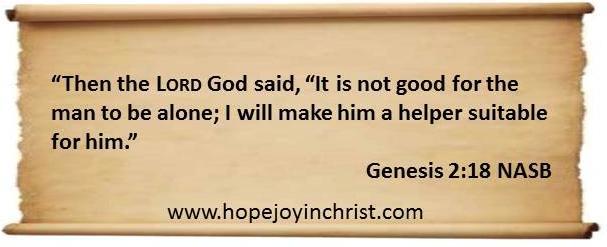 God made women to Help