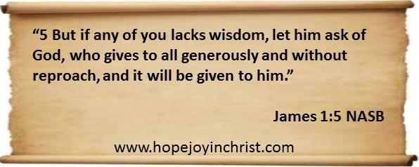 God Gives Wisdom