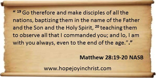 Go Make Disciples. Matthew 28 19 20 making Disciples of All the nations begins with My children.