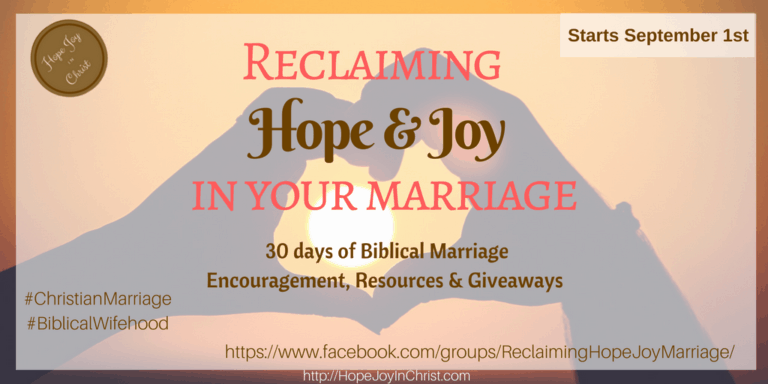 Reclaiming Hope & Joy In Your Marriage - Twitter