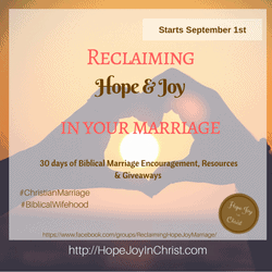 Reclaiming Hope & Joy In Your Marriage -Widget Biblical Marriage Biblical Wifehood, Christian Marriage Advice, Wisdom, Secrets, Encouragement, Equiping, resources and Giveaways, Christian Marriage REsources