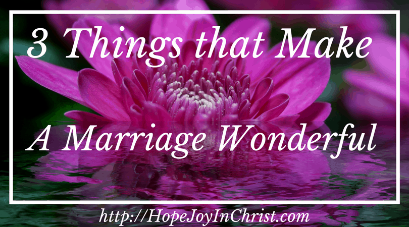 3 Things That Make a Marriage Wonderful FB (Christian Marriage Biblical Wifehood (Reclaiming Hope & Joy in your Marriage))