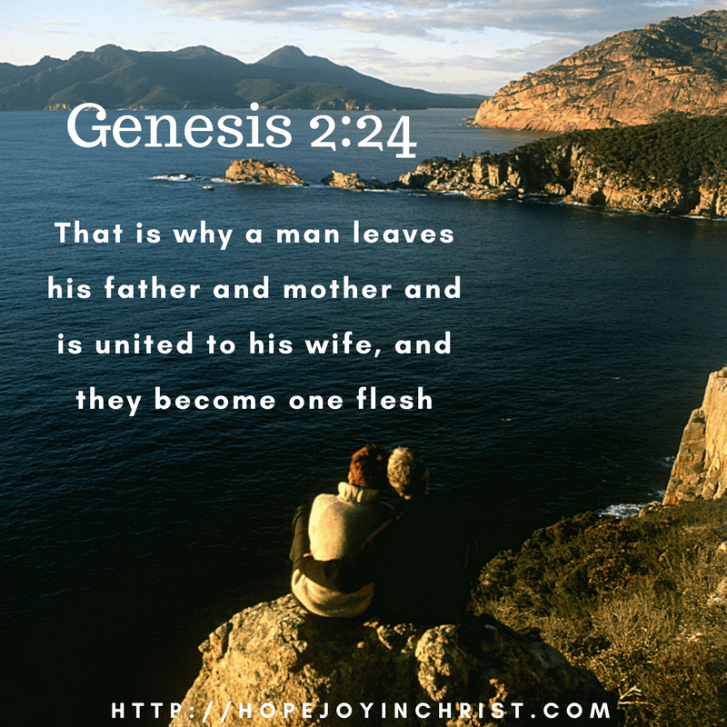 Genesis 2-24 Leave and cleave - don't let emotions rule your marriage