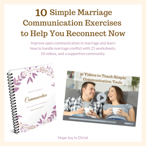 Marriage Communication Course, Marriage Communication quotes, marriage communication tips, marriage communication activities, marriage communication worksheets, Christian Marriage advice #ChristianMarriage #HopeForMarriage #HopeJoyInChrist