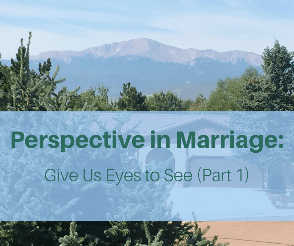 Perspective in Marriage- Give Us Eyes to See (Part 1) View of Pikes Peek (Christian marriage, Biblical Wifehood. Reclaiming Hope & Joy in your Marriage)