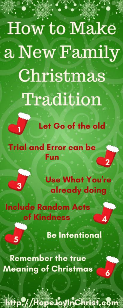 How to Make a New Family Christmas Tradition LongPinIt (#Advent #ChristianChristmas #ChristmasTraditions #RandomActsOfKindness)