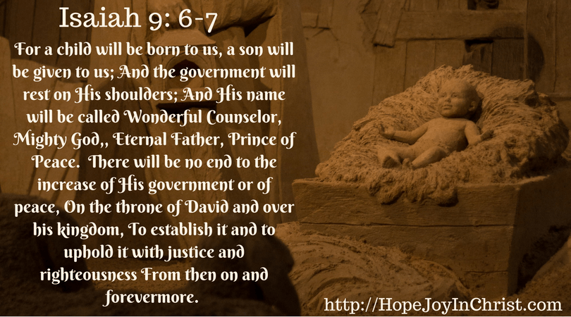 Isaiah 9: 6-7 (#FreePrintable #ChristmasCarol #HolidayIdeas #ChristCenteredChristmas)