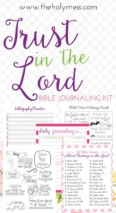 trust In the lord Bible Journaling Kit #bibleJournaling #IllistratedFaith
