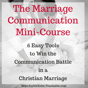 The Marriage Communication Mini Course. 6 easy tools to win the communication battle in a christian marriage #Communicationquotes #Communicationrelationship #Communicationskills #Communicationinmarriage #MarriageCommunicationTips #ChristianMarriage #BiblicalMarriage #RelationshipAdvice #MarriageHelp