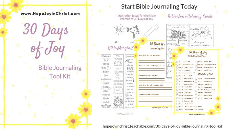 30 Days of JoyBible Journaling Tool Kit FB #BibleJournaling #IllustratedFaith #BibleJournalingForBeginners #BibleJournalingIdeas
