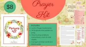 Prayer Kit Giveaway from A work of Grace