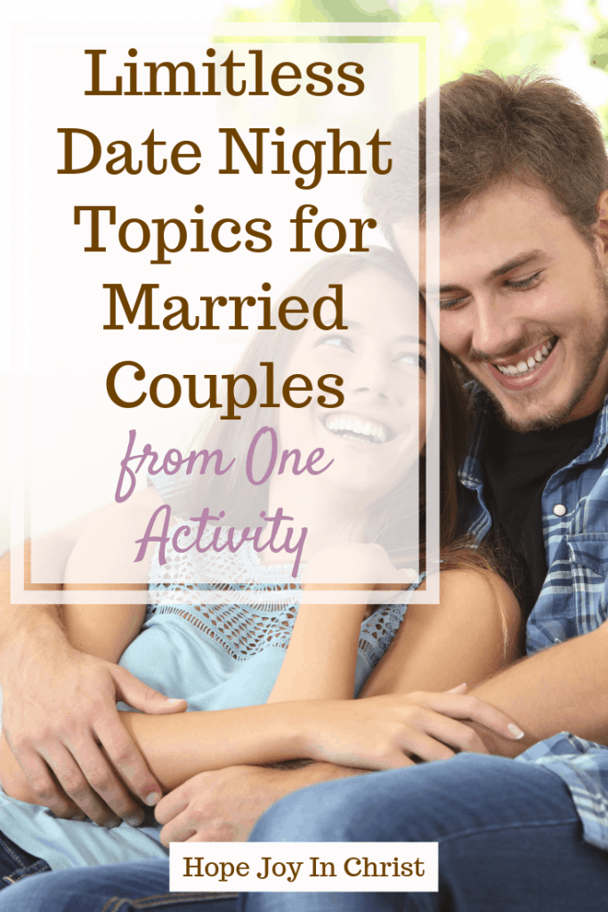 Limitless Date Night Topics for Married Couples from One Activity, date night ideas, date night at home, date night quotes, date night for married couples, marriage advice, Marriage quotes #Marriageadvice #ChristianMarriage #HopeForMarriage #HopeJoyInChrist