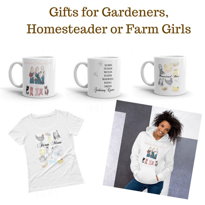 Gifts for Gardeners, Homesteader or Farm Girls from https://rosevinecottagegirls.com/shop-rosevine-cottage-girls